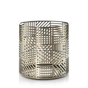 Yankee Candle Crosshatch Brass Large Jar Holder 1507947