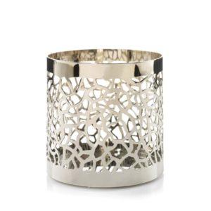 Yankee Candle Matrix Brushed Silver Jar Holder 1507951