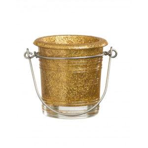 Glitter-Votive-Holder---Gold