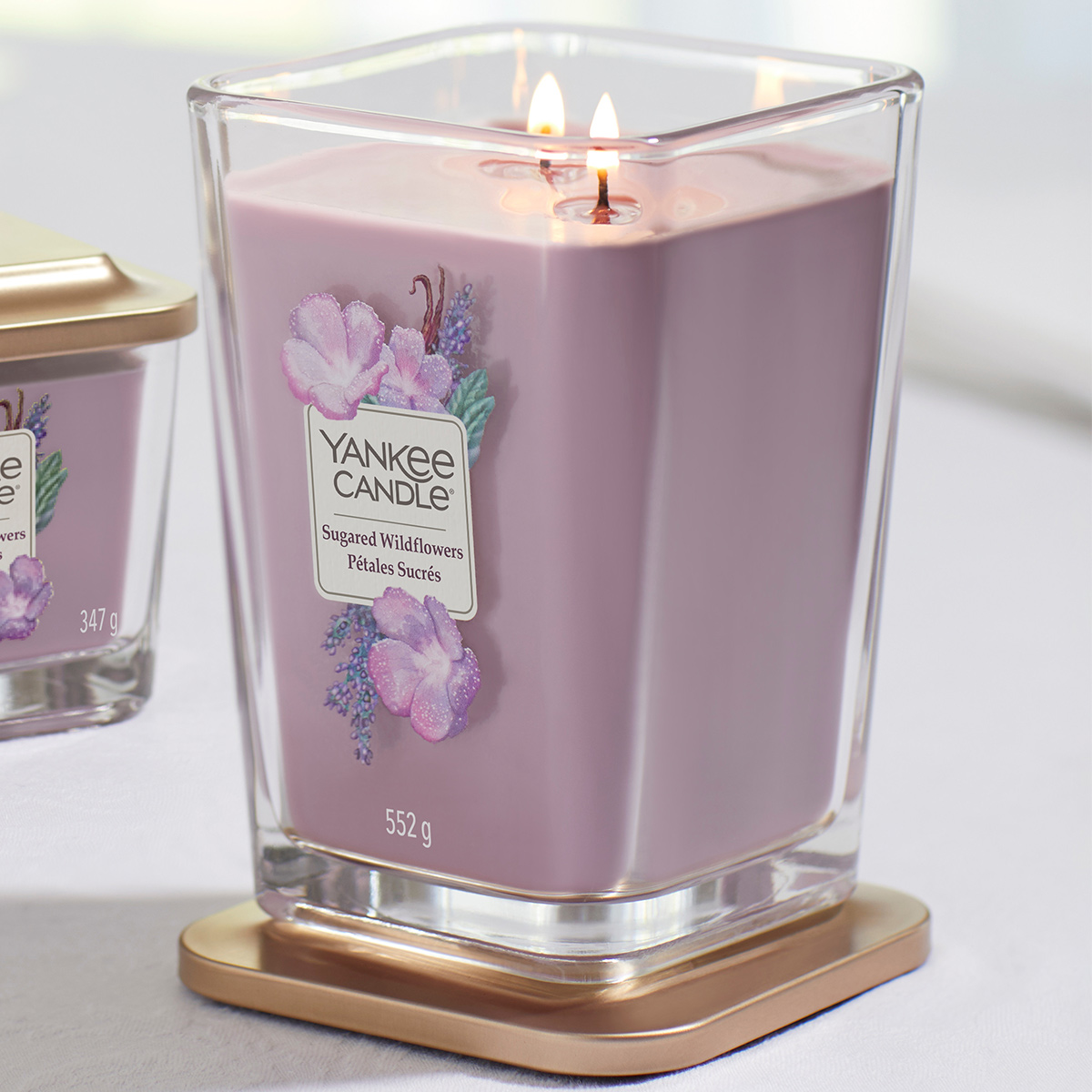 Elevation-Sugared-Wildflowers-Large-Square-Candle-1611833E-Display